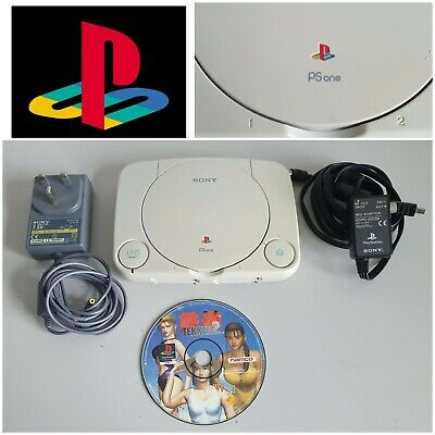 PS1 Sony Playstation Psone Slim Console (SCPH-102 PAL) - With Leads & Tekken 2