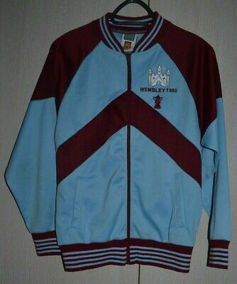 West Ham United Football Jacket Jersey Draw Score Fa Cup Final 1980 Size M