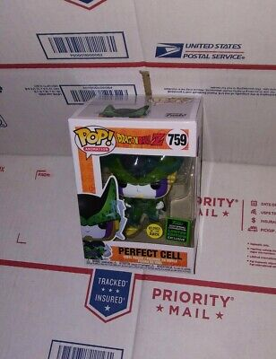 Funko Pop Dbz: Perfect Cell Gitd #759. Eccc 2020 Shared Exclusive. Presale.