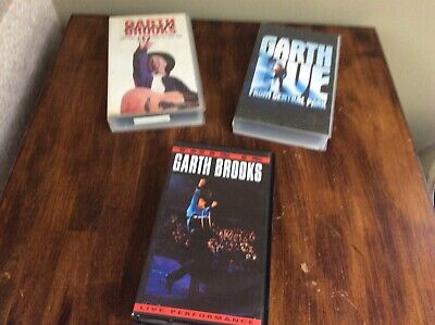 3 x Garth Brooks VHS Video tapes