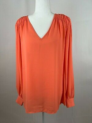 The Limited Collection Women's Tunic V-Neck Long Sleeve Sheer Hi Low Size Large