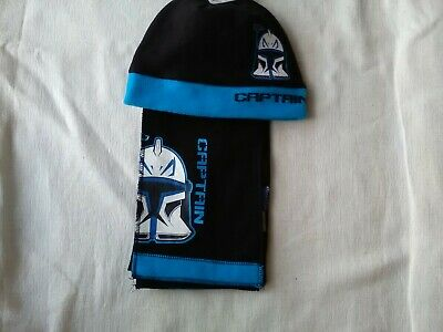 BNWT Star Wars Fleece Hat and Scarf Set Age 4-8 Years