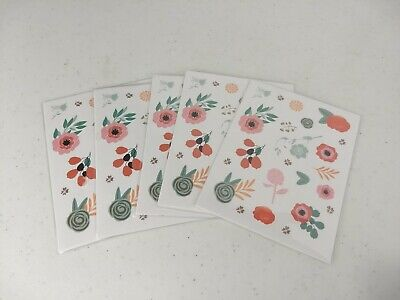 Lot of 20 Sticker Sheets Planner/Appointment Reminders Floral Business School