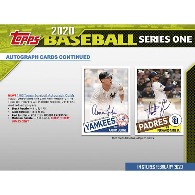 2020 Topps Series 1 Factory Sealed Hobby Box In Stock