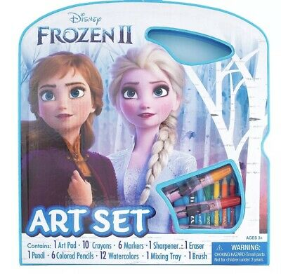 Licensed Disney Frozen Character Art Set Tote Activity 50pc paint Creative Gift