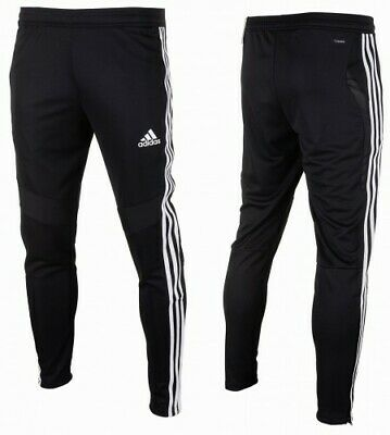 Mens Adidas TIRO 19 Training Pant Tapered Fit Football Soccer Black White D95958