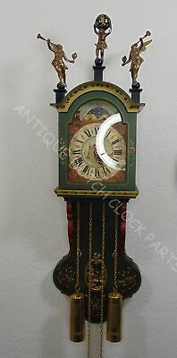 Small Folklore Hindeloopen Painted Friesian Tail Clock Warmink