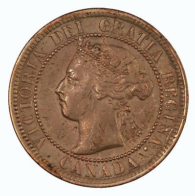 Raw 1900 H Canada 1C Uncertified Ungraded Canadian Large Cent Coin