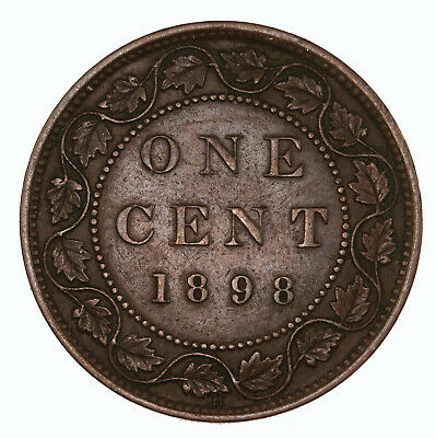 Raw 1898 H Canada 1C Uncertified Ungraded Canadian Large Cent Coin