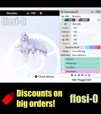 6IV Shiny Alola Ninetales (Square / Ultra Shiny) Poke Guide [Sword and Shield]