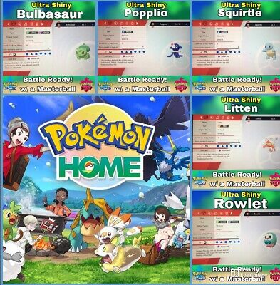 ✨ULTRA Shiny✨ Pokemon Home Starters and Alola - for Pokemon Sword and Shield