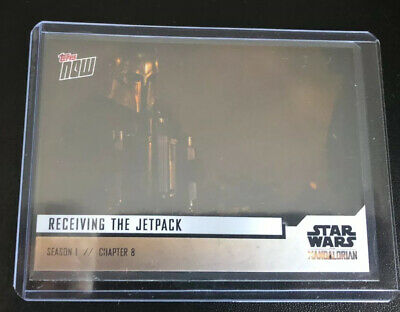 2019 Topps Now Star Wars The Mandalorian # 37 Receiving The Jetpack