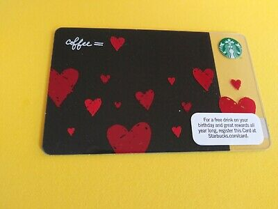 """Starbucks gift card 2011 """" COFFEE=LOVE 💘"""" GREAT CARD~HTF~ NO VALUE"""