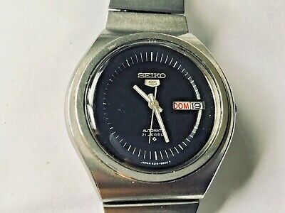 Seiko 5 UFO Automatic Day/Date Mens Watch 39mm ca.07/1977 English & Spanish Day