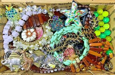 Nice Vintage-Now Jewelry Lot OVER 1.5 LBS!  Estate Finds Wearable Sellable #203