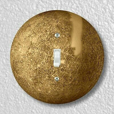 Planet Mercury Round Light Switch and Outlet Plate Covers