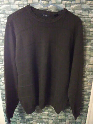 IZOD Mens Sweater Cable Knit 100% COTTON Light Green Med RN 35634