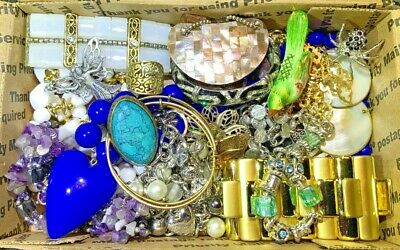 Nice Vintage-Now Jewelry Lot OVER 1.5 LBS!  Estate Finds Wearable Sellable #204