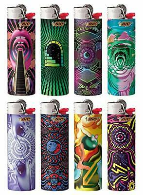 BIC Special Edition Prismatic Limited Series Lighters, Set of 8 Lighters