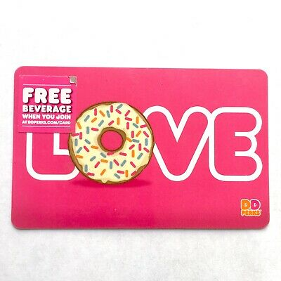 Dunkin Donuts Collectible Gift Card NO VALUE Pink LOVE Mother's Day