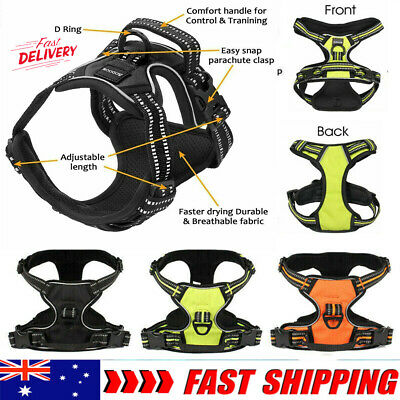 3M Dog Pet Harness Reflective Outdoor Safety No-pull Vest Jacket Padded Handle