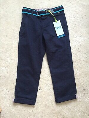 Ted Baker Boys Trousers Age 4-5 Navy Chino Style