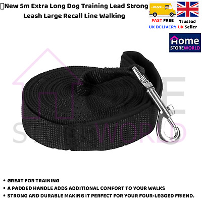 🔥New 5m Extra Long Dog Training Lead Strong Leash Large Recall Line Walking