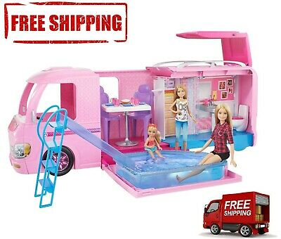 Barbie DreamCamper Adventure Camping Playset with Accessories - Free Shipping
