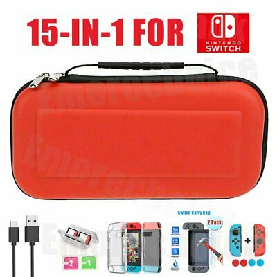 Travel Case Storage Bag For Nintendo Switch+Cover+Screen Protector Accessories