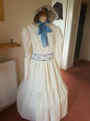 Ladies Size 18 Victorian Daydress And Bonnet