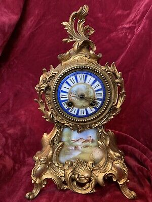 Antique French Ormolu Clock Garniture