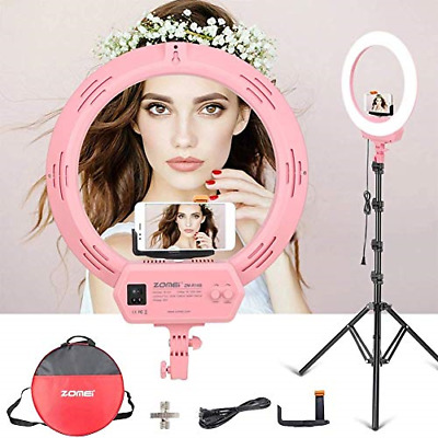 16-inch Dimmable LED Ring Light Camera Lamp w/ Tripod Stand Phone Shoot