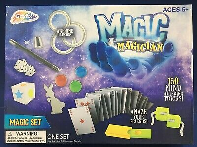 Magician Magic Set 150 Mind Altering Tricks! Awesome Illusions! By Grafix B4