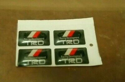 toyota trd silver valve cap covers, dome stickers