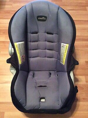 Evenflo Litemax Baby Car Seat Cover Cushion Replacement Part Black Gray