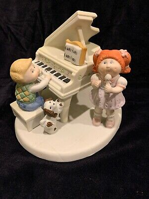 "Cabbage Patch Xavier Roberts Porcelain ""The Entertainers"" Playing Piano &Singing"