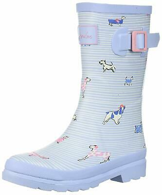 Kids Joules Girls Welly Rubber Mid-Calf Pull On, Y_JNRGIRLSWLYSBSBDOG, Size 4.0