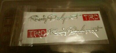 toyota trd red 3d stickers