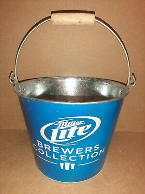 Miller lite beer advertising ice bucket patio cooler pail candle holder NOS sign