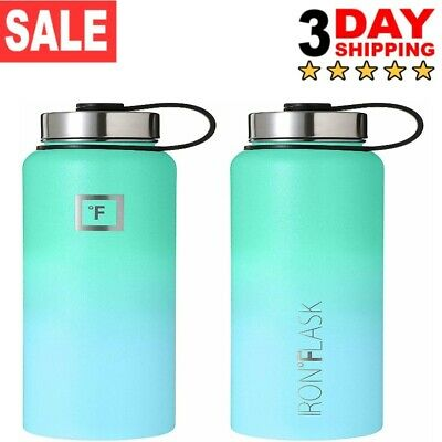 *NEW*Iron Flask Vacuum Insulated Stainless Steel Water Bottle sport *ORIGINAL*