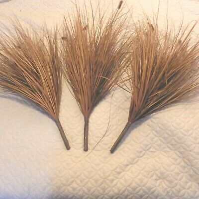 Ornamental Grass spray seed pod Spikes Artificial Floral Arrangement Brown Large