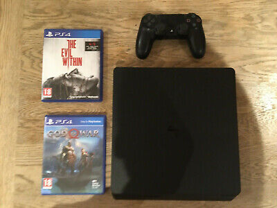 Sony Playstation 4 PS4  500GB Slim Console with God of War and The Evil Within