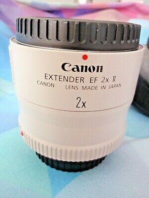 Canon EF 2x II Extender w/ Lens Caps and Storage Bag -  Excellent