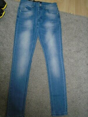 Brand New Boys Super Skinny Jeans From Boohoo Man Waist 30 Inches