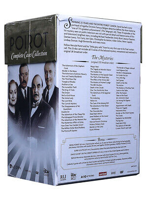 Agatha Christie Poirot Complete Cases Collection 33 DVD Box Set New Free Ship