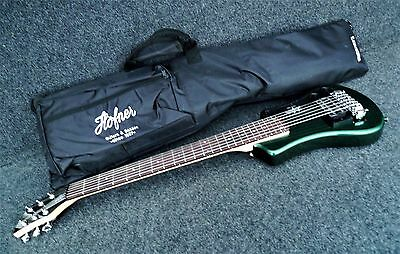 HOFNER HCT-SH-GR SHORTY TRAVEL Electric Guitar CADILLAC GREEN with Gig Bag