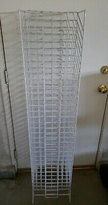 PICK UP ONLY  30 Slot Scrapbook Paper Rack Tower WHITE Organizer Display 12