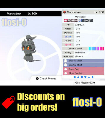 6IV Marshadow Pokemon Guide [Sword and Shield]