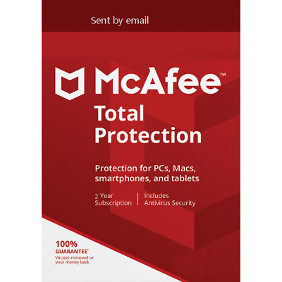Mcafee Total Protection 2020 3/4/5 YEARS Unlimited PC /Mac/Devices Download 2019