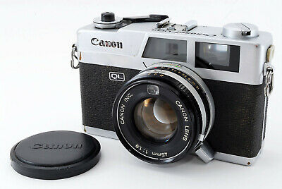 [AS IS] Canon Canonet QL-19 Film Camera 45mm f/1.9 Lens w/Case From Japan